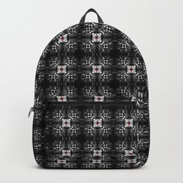 Spider Pipes in Black, Red, and White Backpack