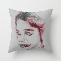 vertigo Throw Pillows featuring Vertigo by thomashanandry