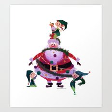 Decorating Santa Art Print