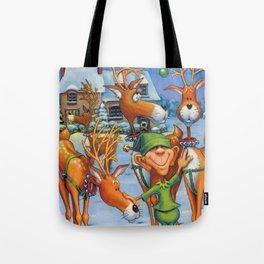 Elf Karl and the Reindeer Tote Bag