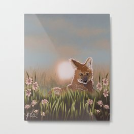 Maned Wolf at Sunset Metal Print