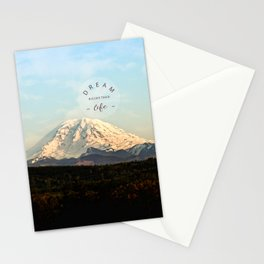 dream bigger than life Stationery Cards