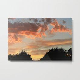 Clouds in the morning sun Metal Print