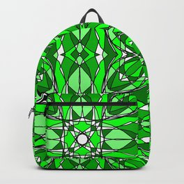 Green Stained Glass Backpack