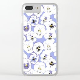 Pansy looks up at the sky Clear iPhone Case