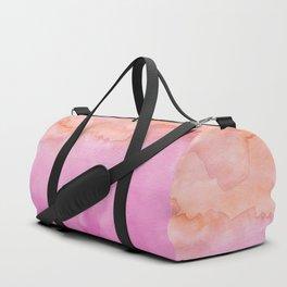 Watercolor Sunset Pink Orange Duo Duffle Bag