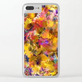 Poppy Gold Clear iPhone Case