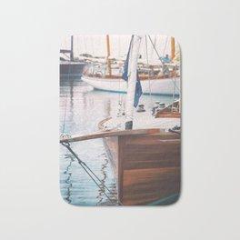 Wood Sailing Boat Bath Mat