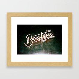 Beatrice in Neon Framed Art Print