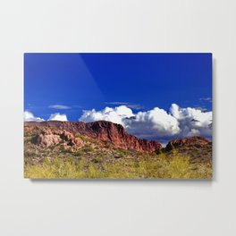 Clouds in the Superstitions Metal Print