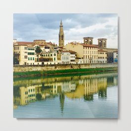 Florence over River Arno Metal Print