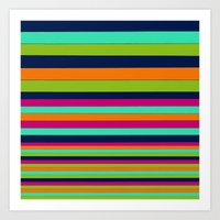 stripe Art Prints featuring Stripe by Aimee St Hill