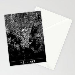 Helsinki Black Map Stationery Cards