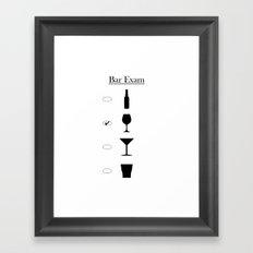 Bar Exam: Wine Framed Art Print