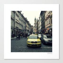 Urban Hustle on the Streets of Prague Canvas Print