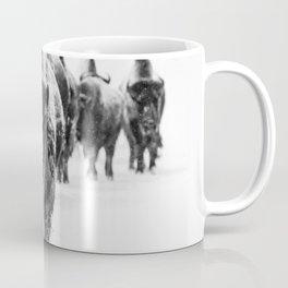 Bisons, black and white Coffee Mug