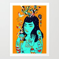 trip Art Prints featuring Trip by Jefowley