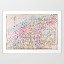 Vintage Map of Buffalo NY (1915) Art Print