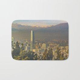 Santiago de Chile Aerial View from San Cristobal Hill Bath Mat