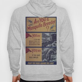 Vintage poster - Mosquito breeder Hoody