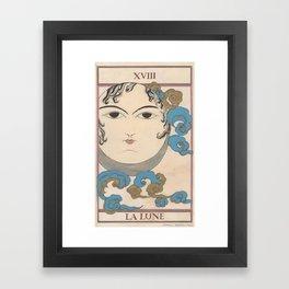 Tarot Card The Moon Framed Art Print