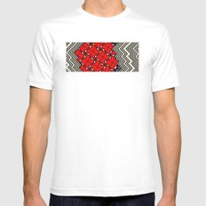 in the pocket MEDIUM White Mens Fitted Tee