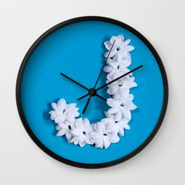 Turquoise Monogrammed J Wall Clock