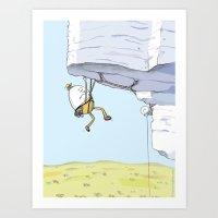 Humpty Dumpty Climbs Again Art Print