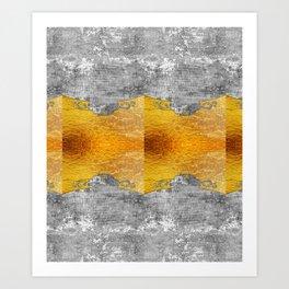 Golden foil and concrete Art Print