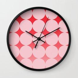 Circling Pink Wall Clock