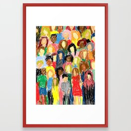 People, 2013. Framed Art Print