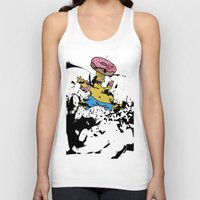 simpsons Tank Tops featuring Simpsons 25th by sinonelineman