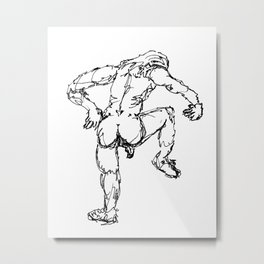 """""""A Waggly Fool"""" Metal Print"""