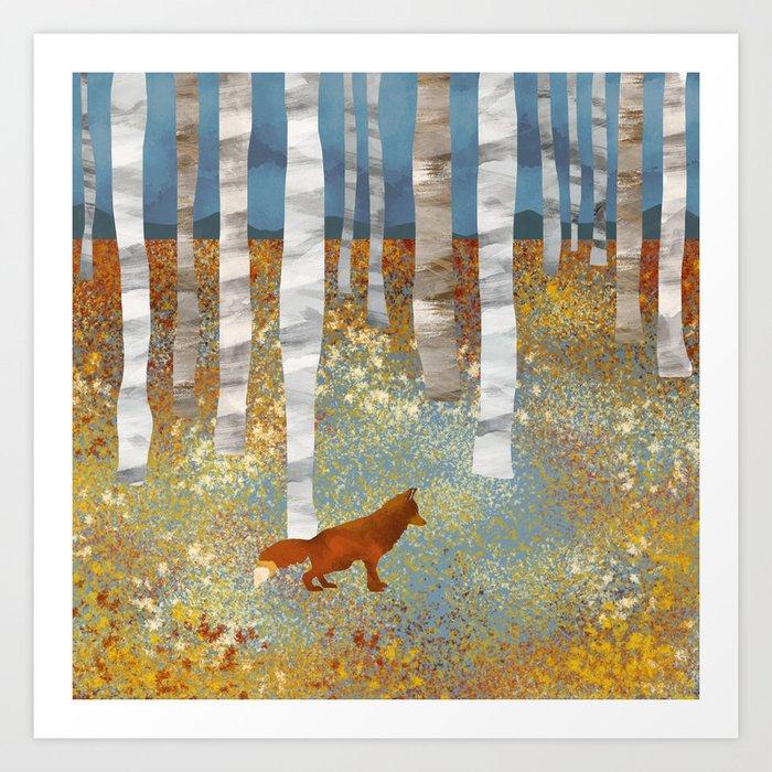 Autumn Fox Kunstdrucke