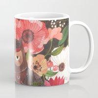 oana befort Mugs featuring SLEEPY OWL by Oana Befort