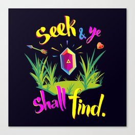 Legend of Zelda Seek and Ye Shall Find Canvas Print