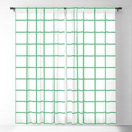 Grid Pattern Green Blackout Curtain