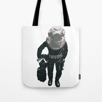 scuba Tote Bags featuring Scuba Diver by Jentfah