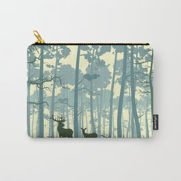 deer and deer in the forest Carry-All Pouch