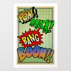 Comic Sounds Art Print