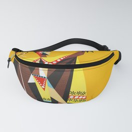 Hawaii - Vintage Airline Poster Fanny Pack