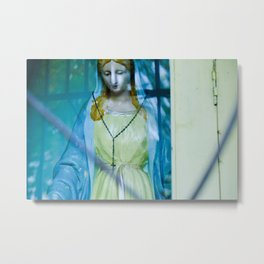 Virgin Mary Religious Catholic Art Metal Print