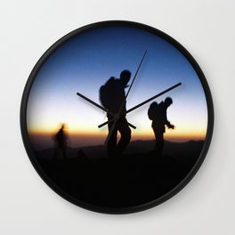hikers Wall Clock