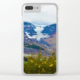 Athabasca Glacier in Jasper National Park, Canada Clear iPhone Case