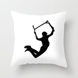 Scooter freestyle stunt Throw Pillow