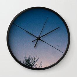 Slash Crescent Wall Clock