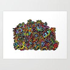 Doodle Machine Art Print