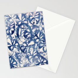 Organic Abstract in Blue Stationery Cards