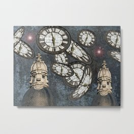 """Les gardiens du temps arrêté"" / ""The guardians of the time stopped"" Metal Print"