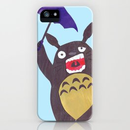 Totoro is tired Collage iPhone Case